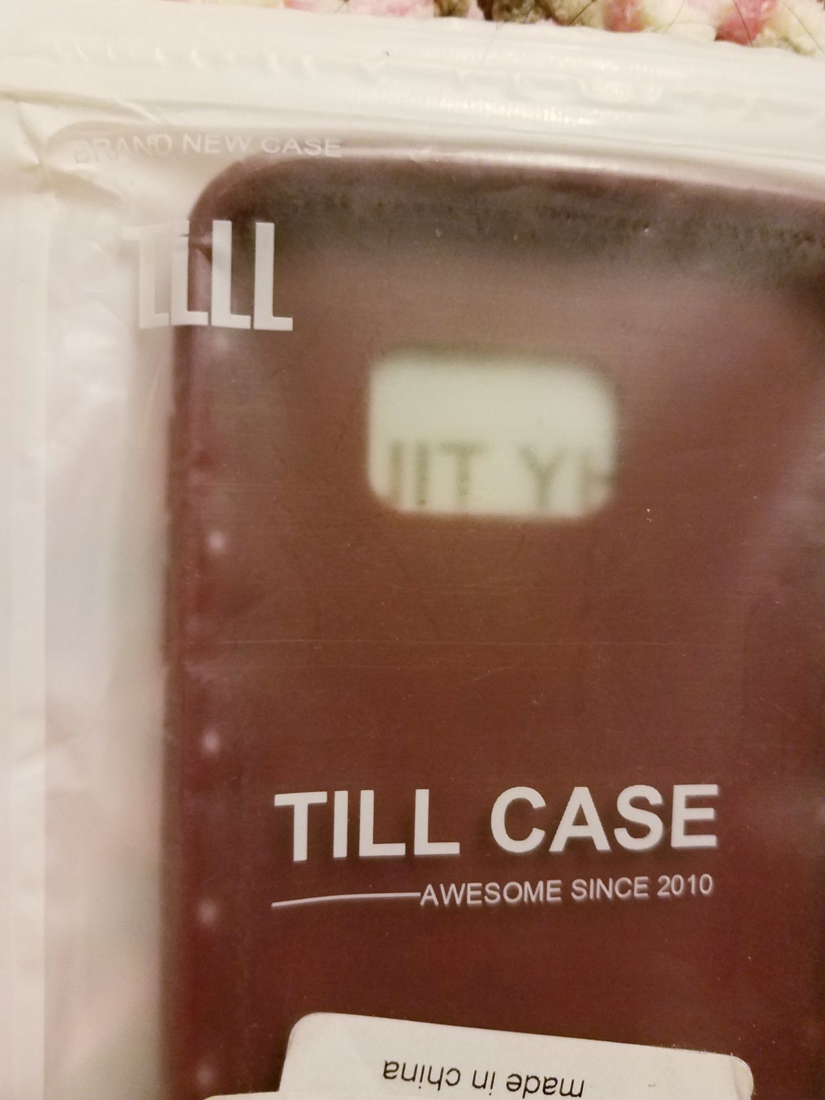 TILL Phone Case Bumper Protector wine