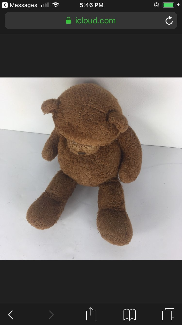 "Guns The Brown Bear ""18"" Plush Animal"