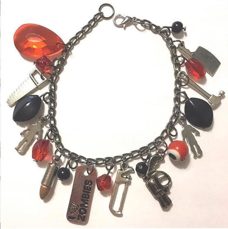 Zombie Horror Charm Bracelet One of a ki