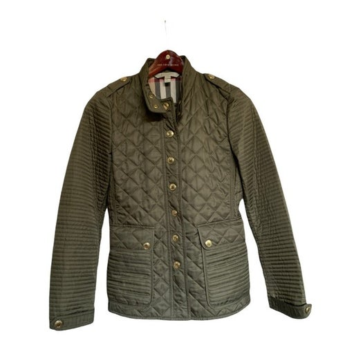 Burberry Quilted Jacket in Olive green