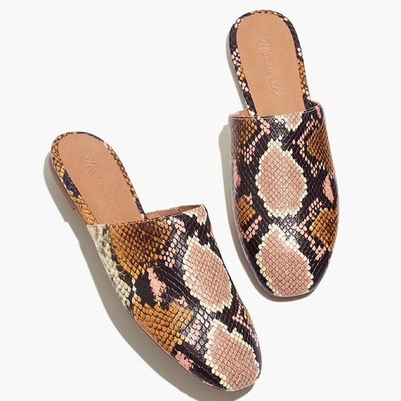 Madewell The Cory Mule Snake 7.5 New