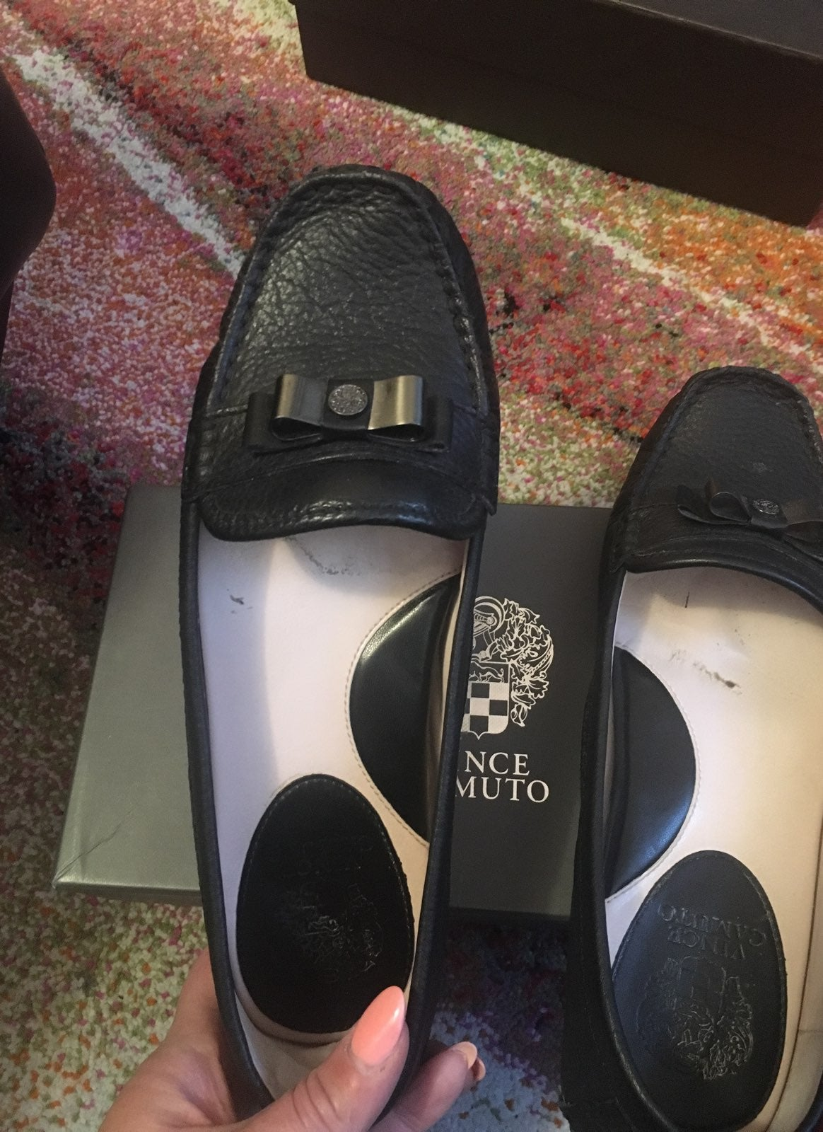 Vince Camuto Bow Driving Shoes