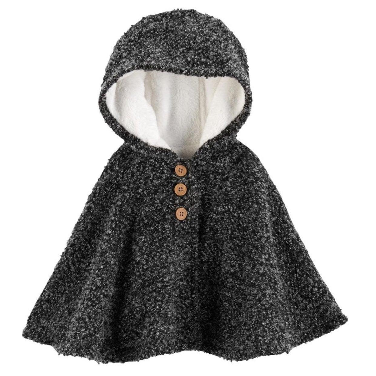 Fleece Wool Poncho/Cape/Cloak