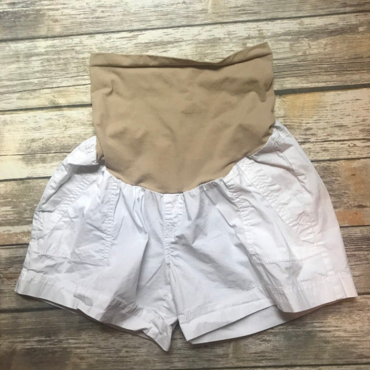 Motherhood Maternity White Shorts