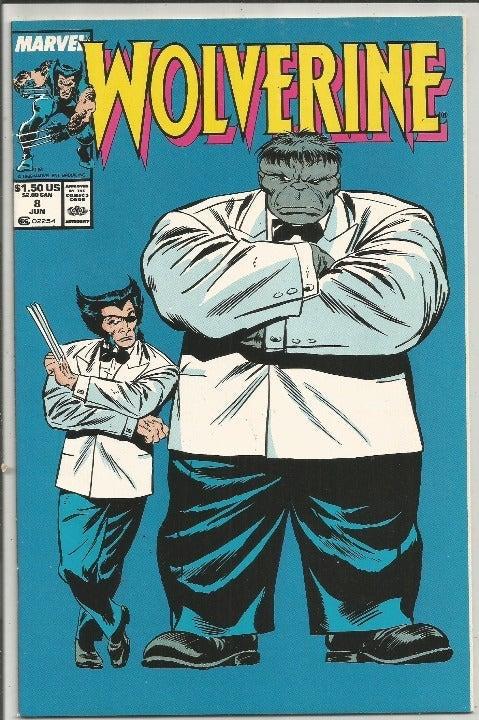WOLVERINE #8 HULK Marvel Comics 1988