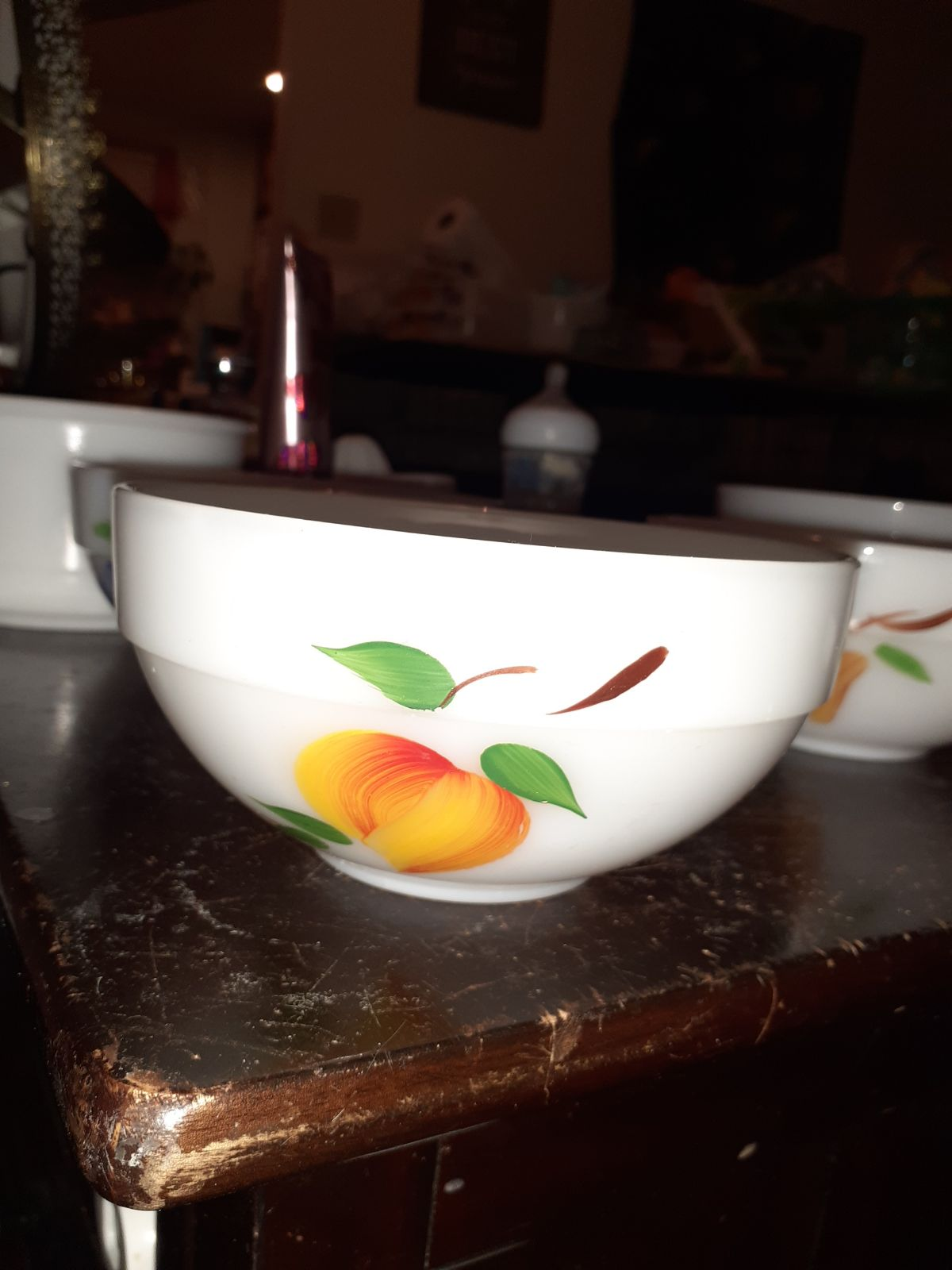 Vintage FIRE KING GAY FAD BOWL FRUIT PAT