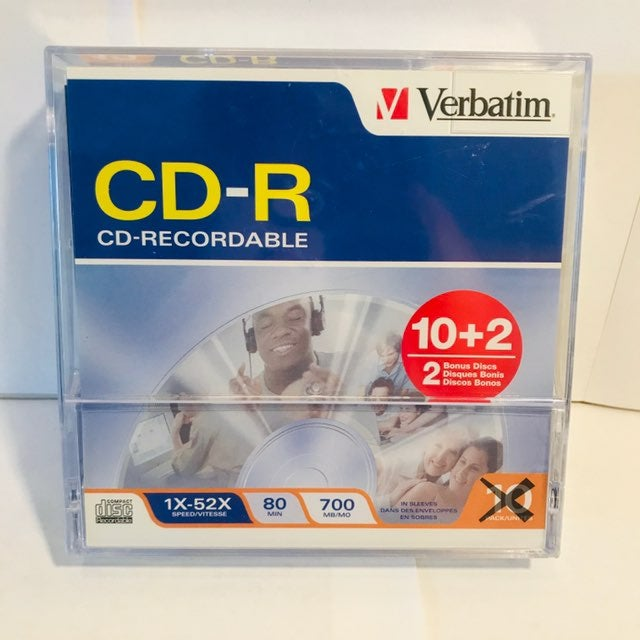 Verbatim CD-R 12 Recordable 1X-52X Speed
