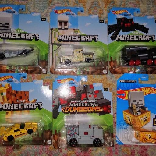 Hot Wheels Minecraft Lot