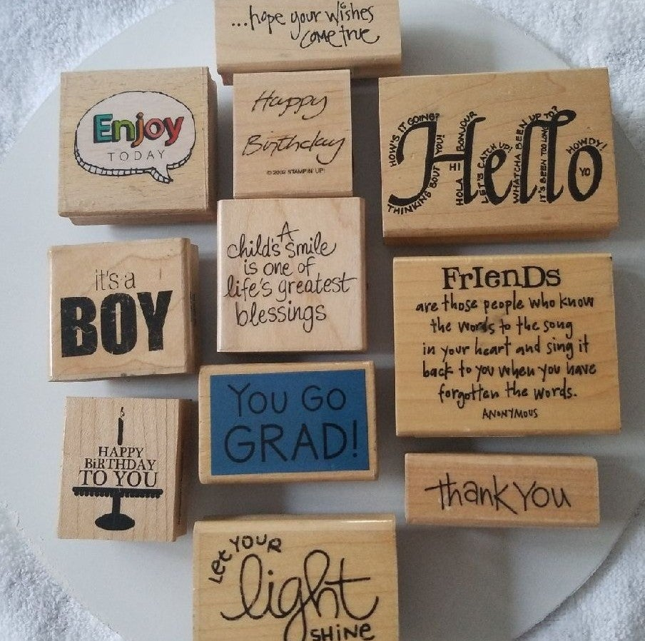 11 Rubber Stamps