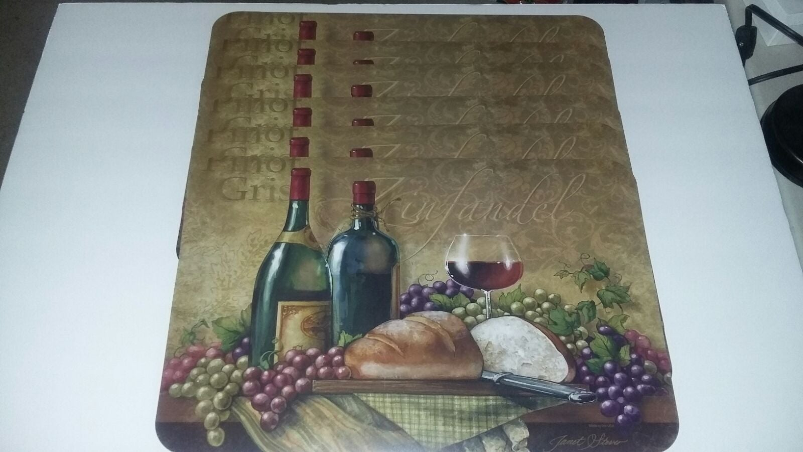 6 Wine Lovers Placemats Zinfandel Pinot