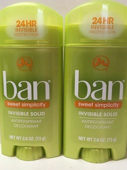 2 ban deodorants