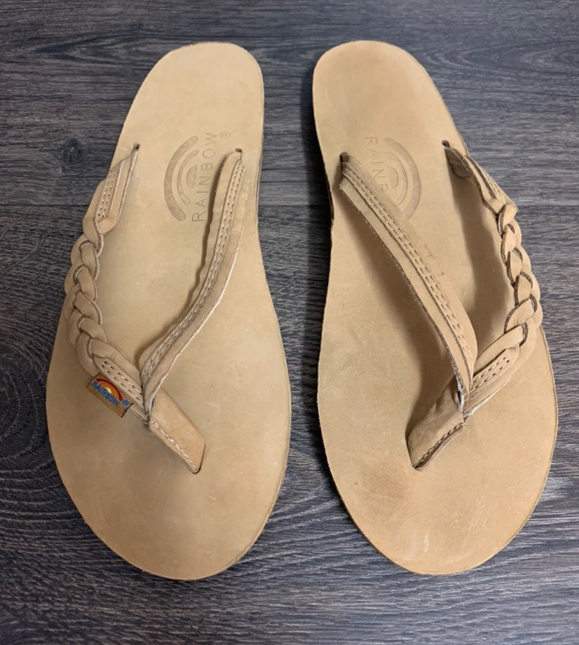NEW RAINBOW Nude Sandals