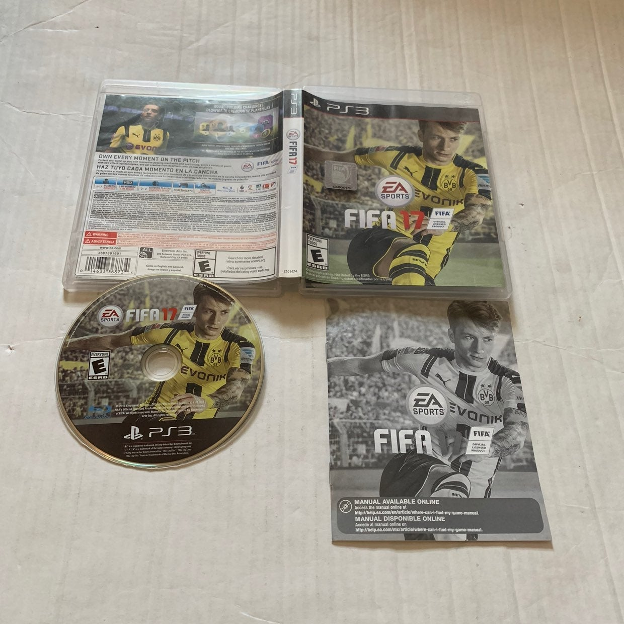 Playstation PS3 FIFA 17 (Complete)