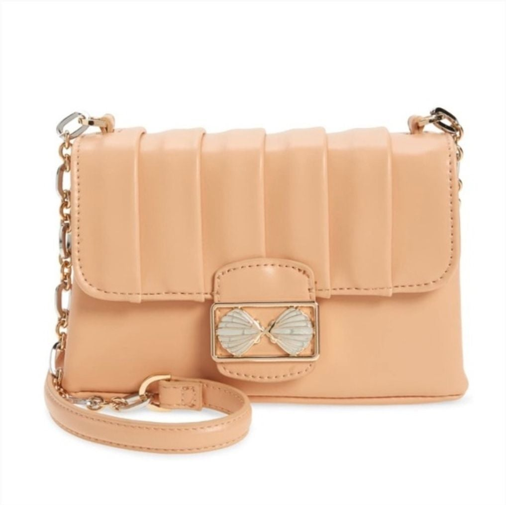 Topshop Shelly Trophy Crossbody Bag (Peach)