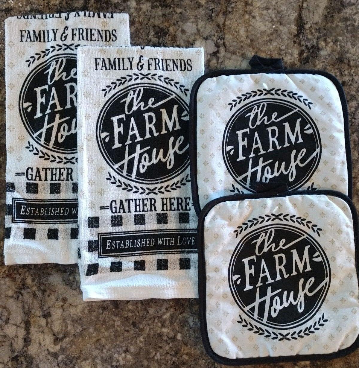Farmhouse Kitchen Towel Set/4