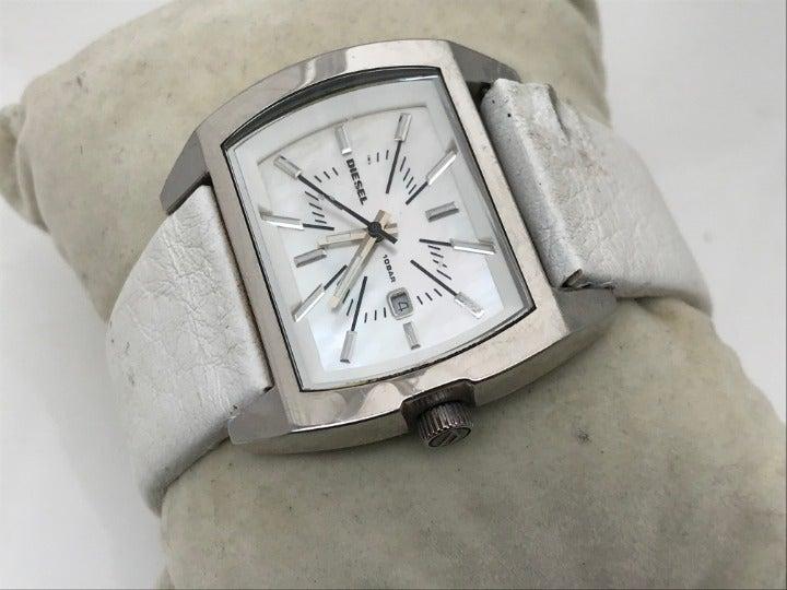 Diesel Watch White Genuine Leather Band