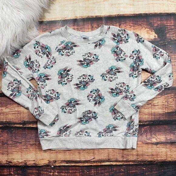 Disney Mickey Minnie Sweatshirt Top