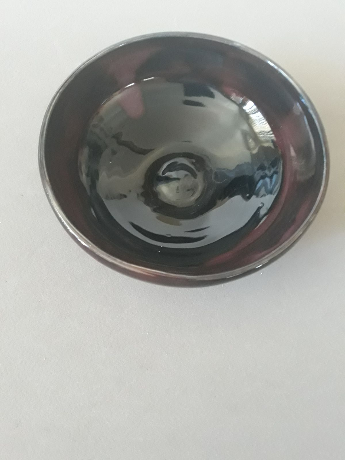 Black and purple bowl