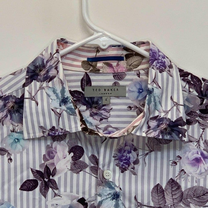 Ted Baker Mens Floral French Cuff Shirt