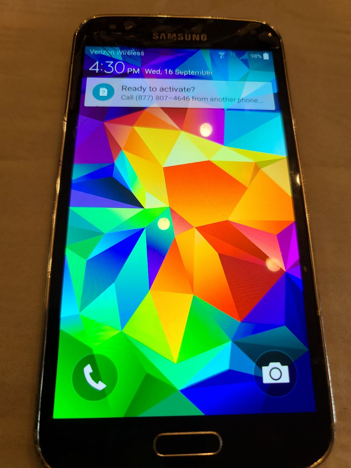 Samsung Galaxy S5 SM-G900V BLACK Smartph