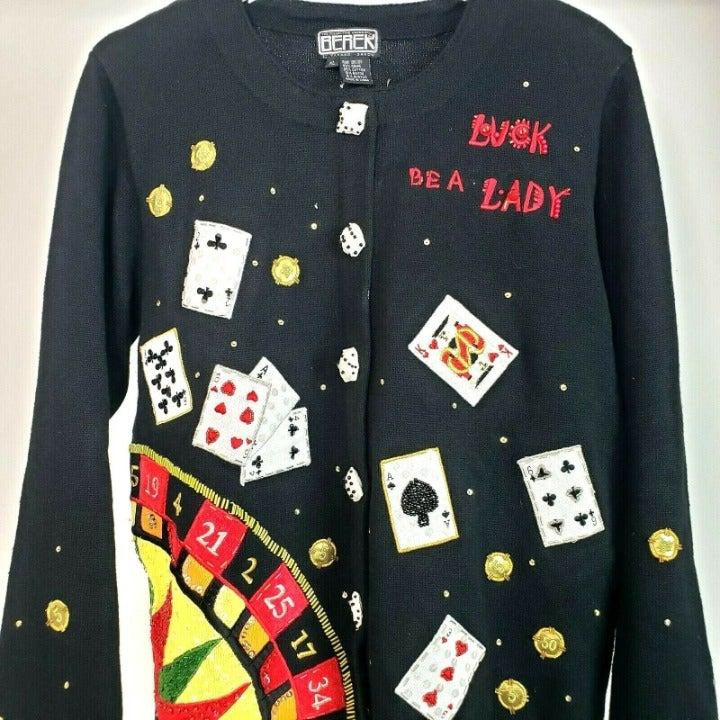 Berek Casino Luck Be a Lady Cardigan