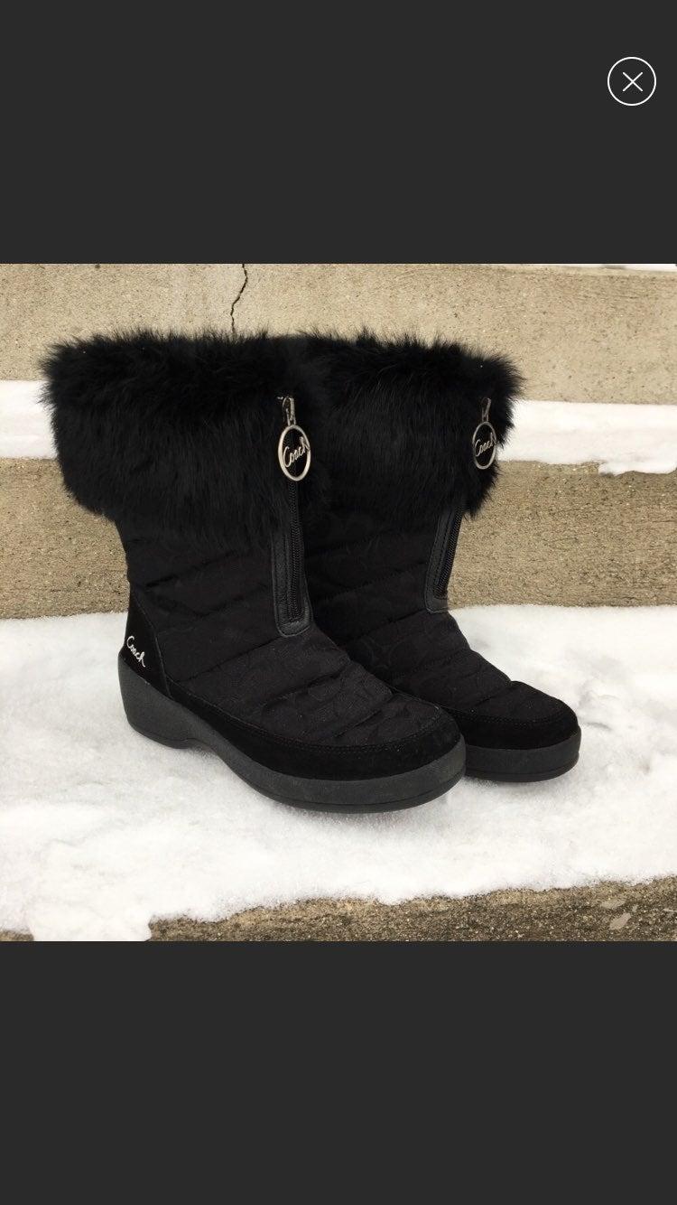 Coach Faith Signature Black Boots 7.5