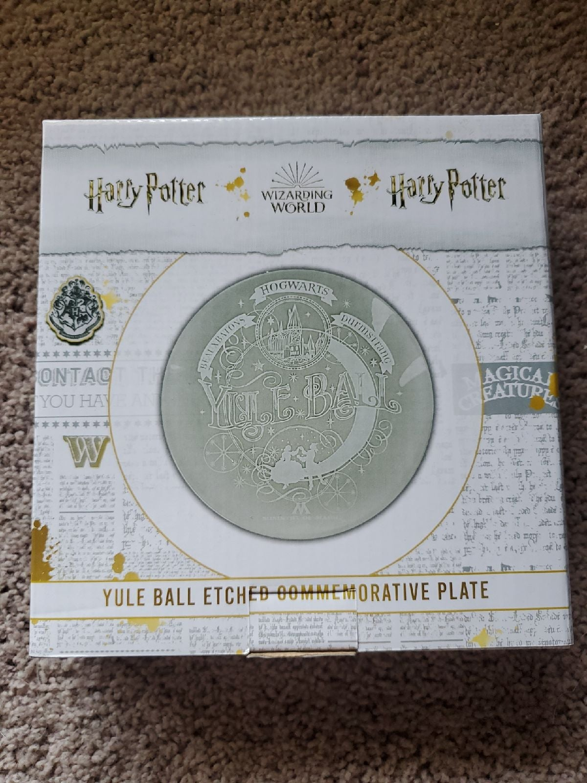 Harry Potter yule ball plate
