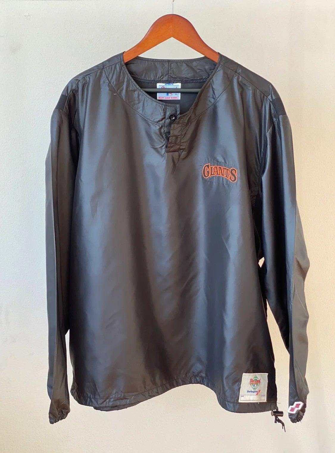 Vtg 90s Diamond SF Giants Pullover Sz XL