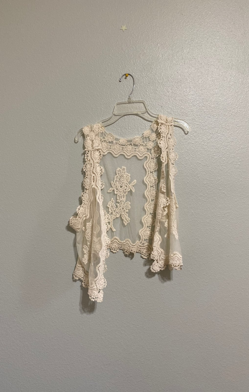 Lace Cover Up Sleeveless Cardigan