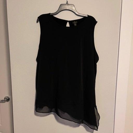 Asymmetrical Black Blouse