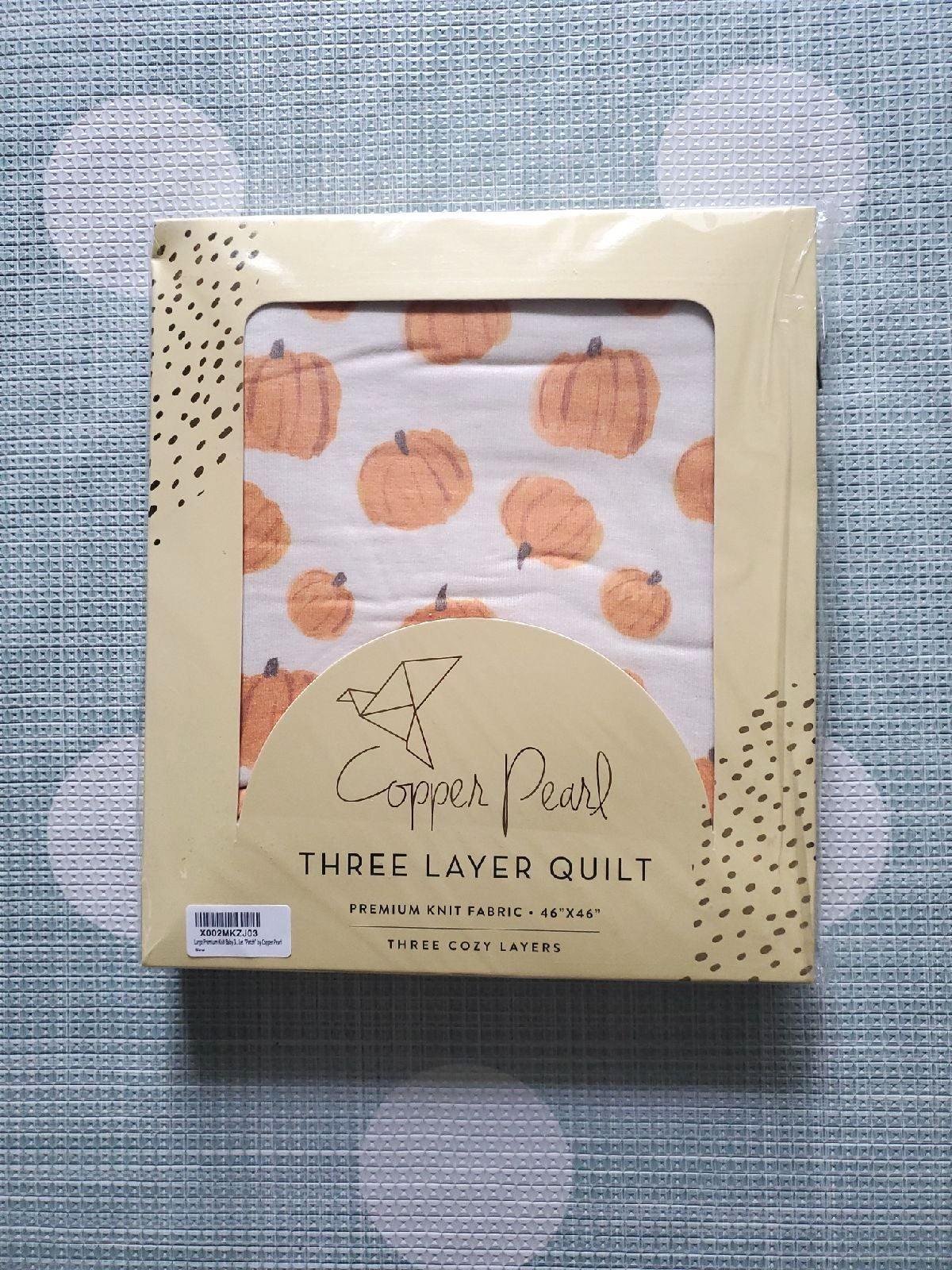 Copper Pearl Patch Three Layer Quilt