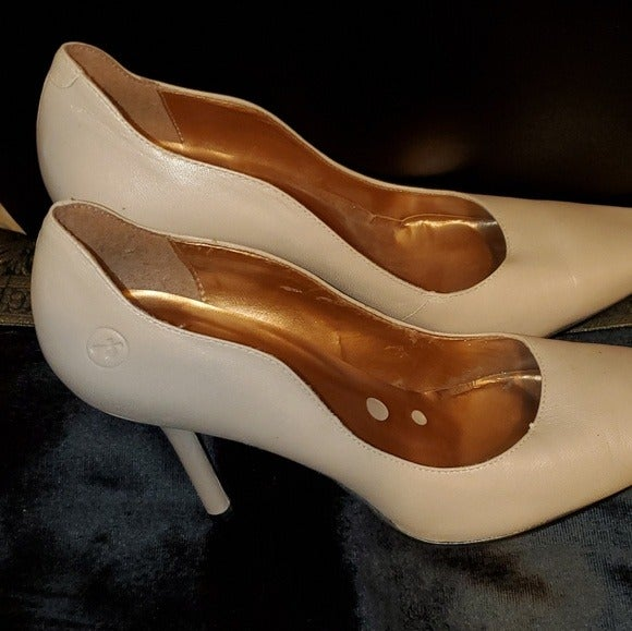 Bronx Sexy Scalloped Leather Heels Sz 9