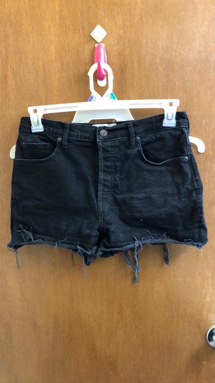 Everlane Black Denim Cheeky Shorts
