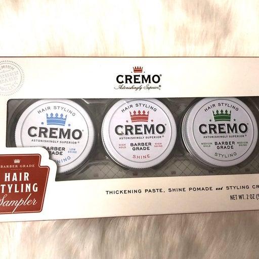 Cremo men's hair styling sampler