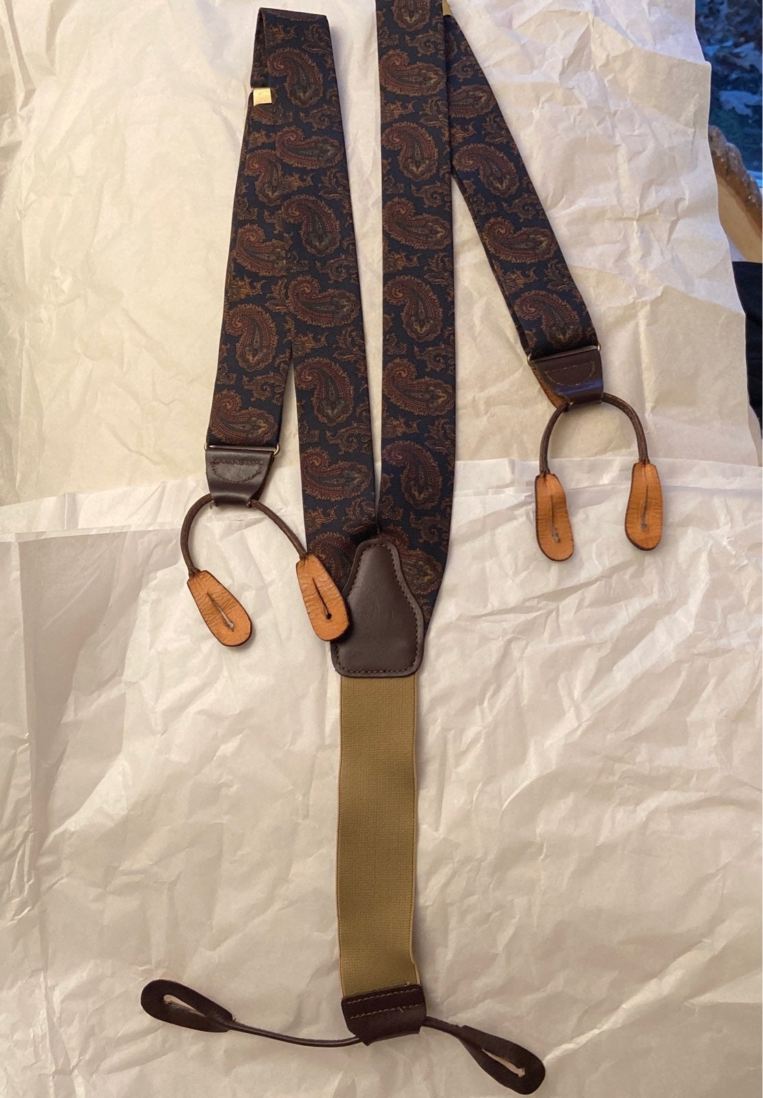 Brooks Brothers Silk Suspenders