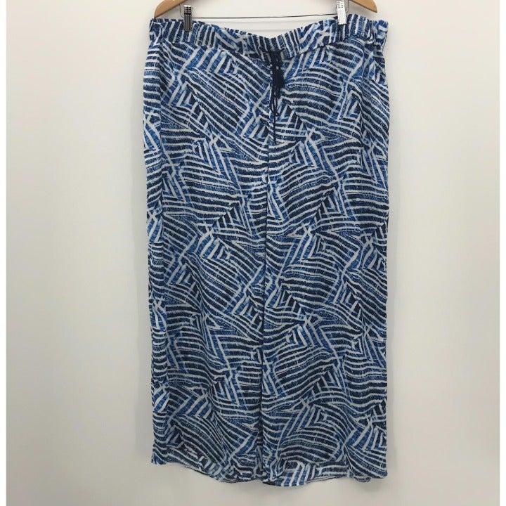 Rafaella Lounge Pants Drawstring Blue 18