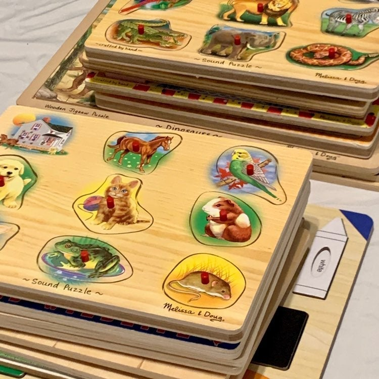 Wooden & Board Puzzles - Lot of 16