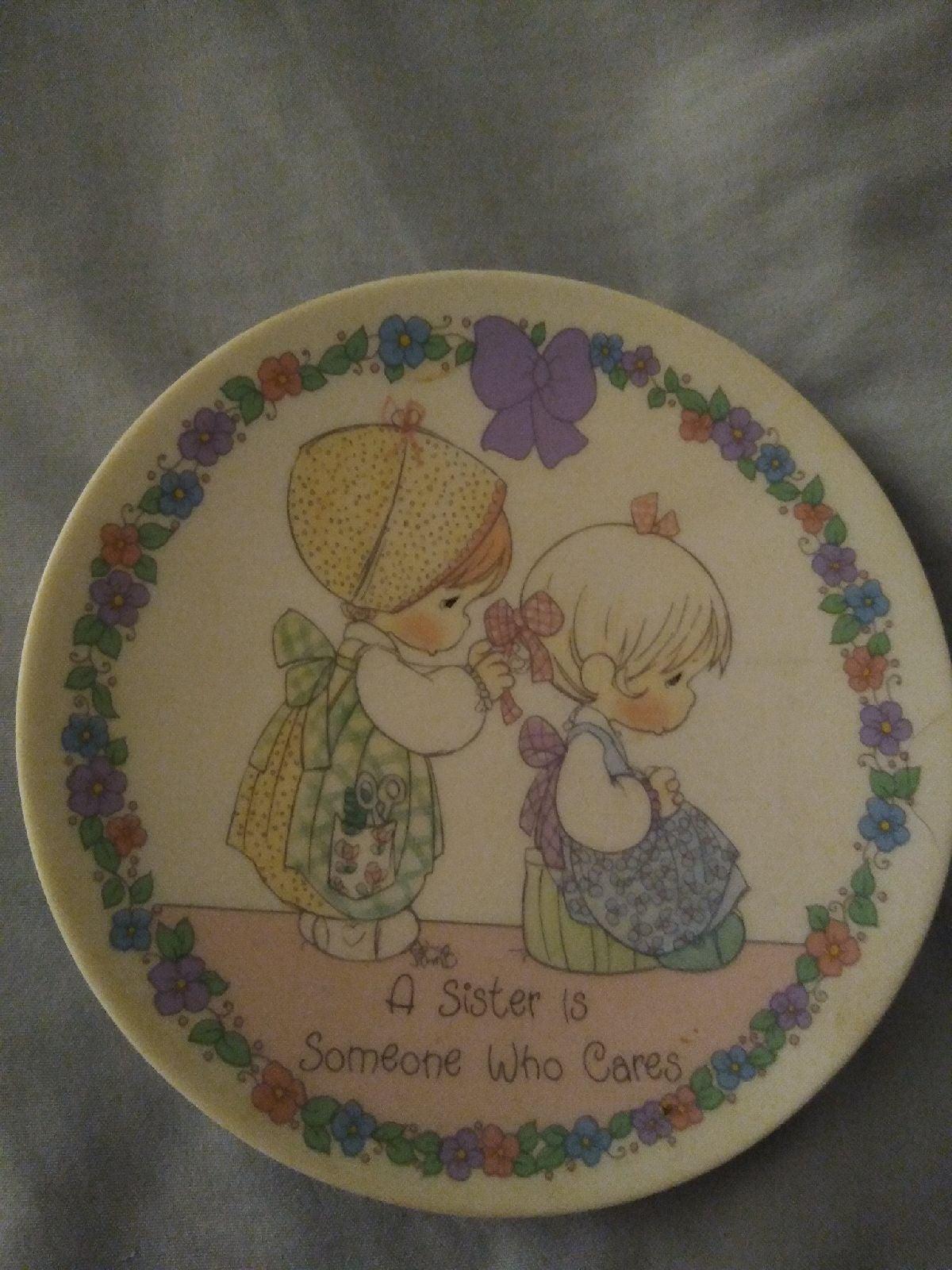 Precious Moments mini sister plate