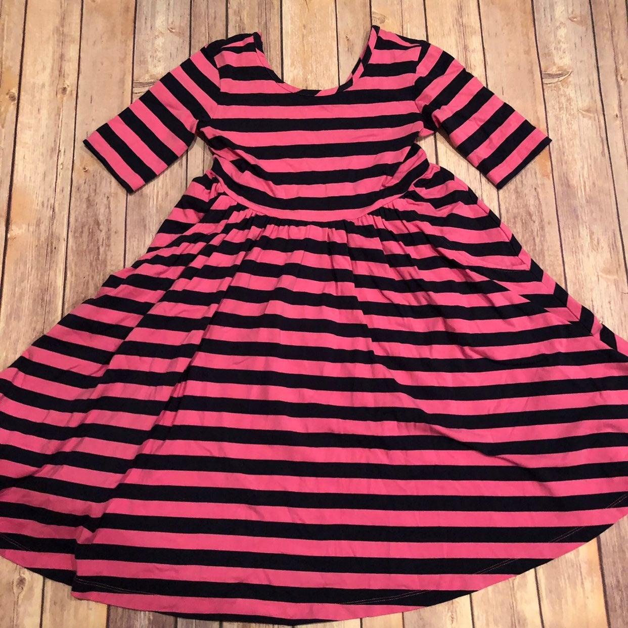 Hanna pink striped twirl