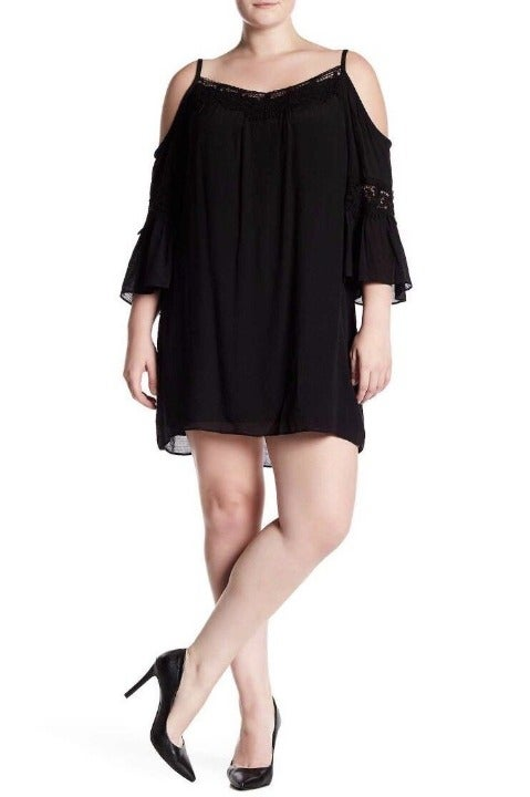 Breathless Dress 3X Lace Black NWT