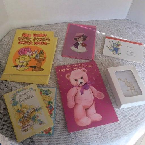 Assorted Lot Vintage Cards