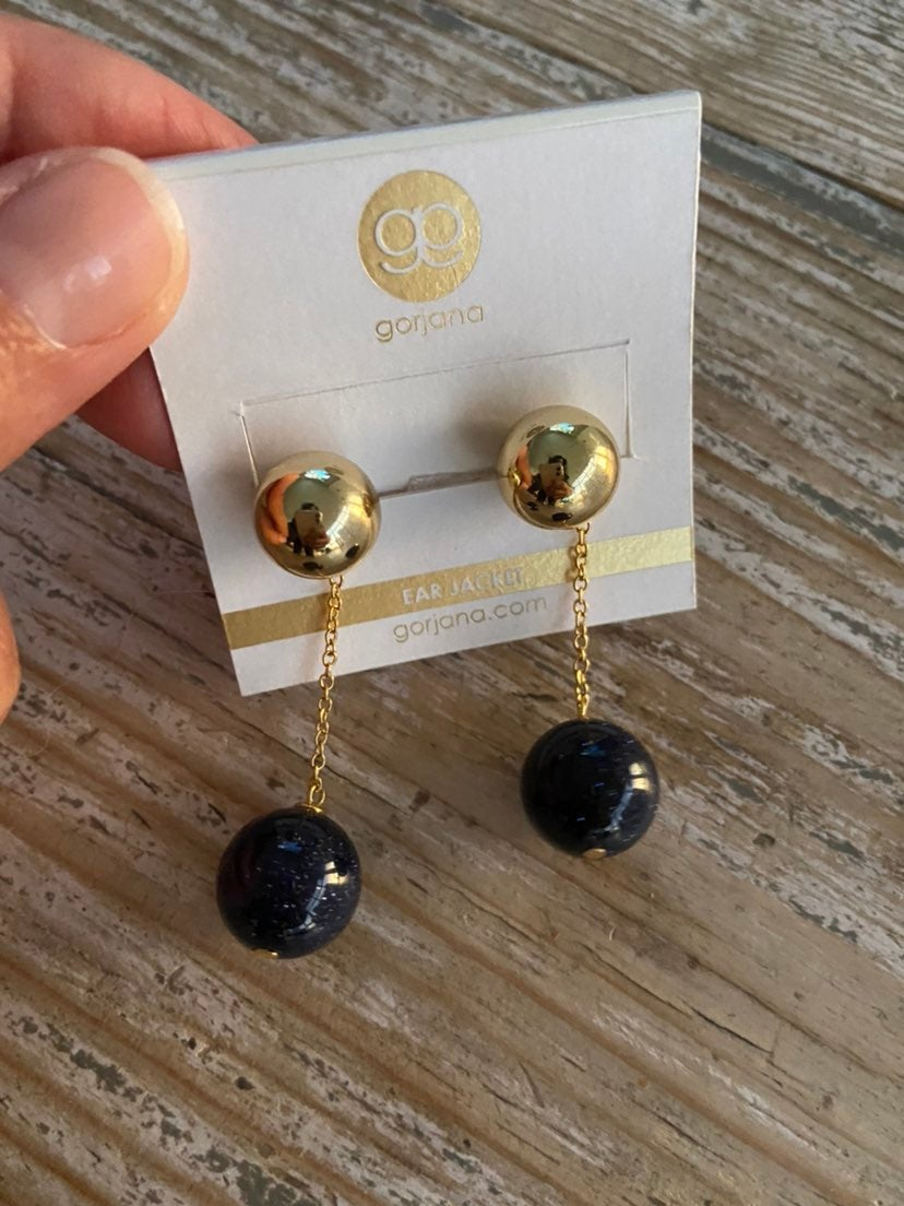 Gorjana Newport Glitter Ball Chain Earri