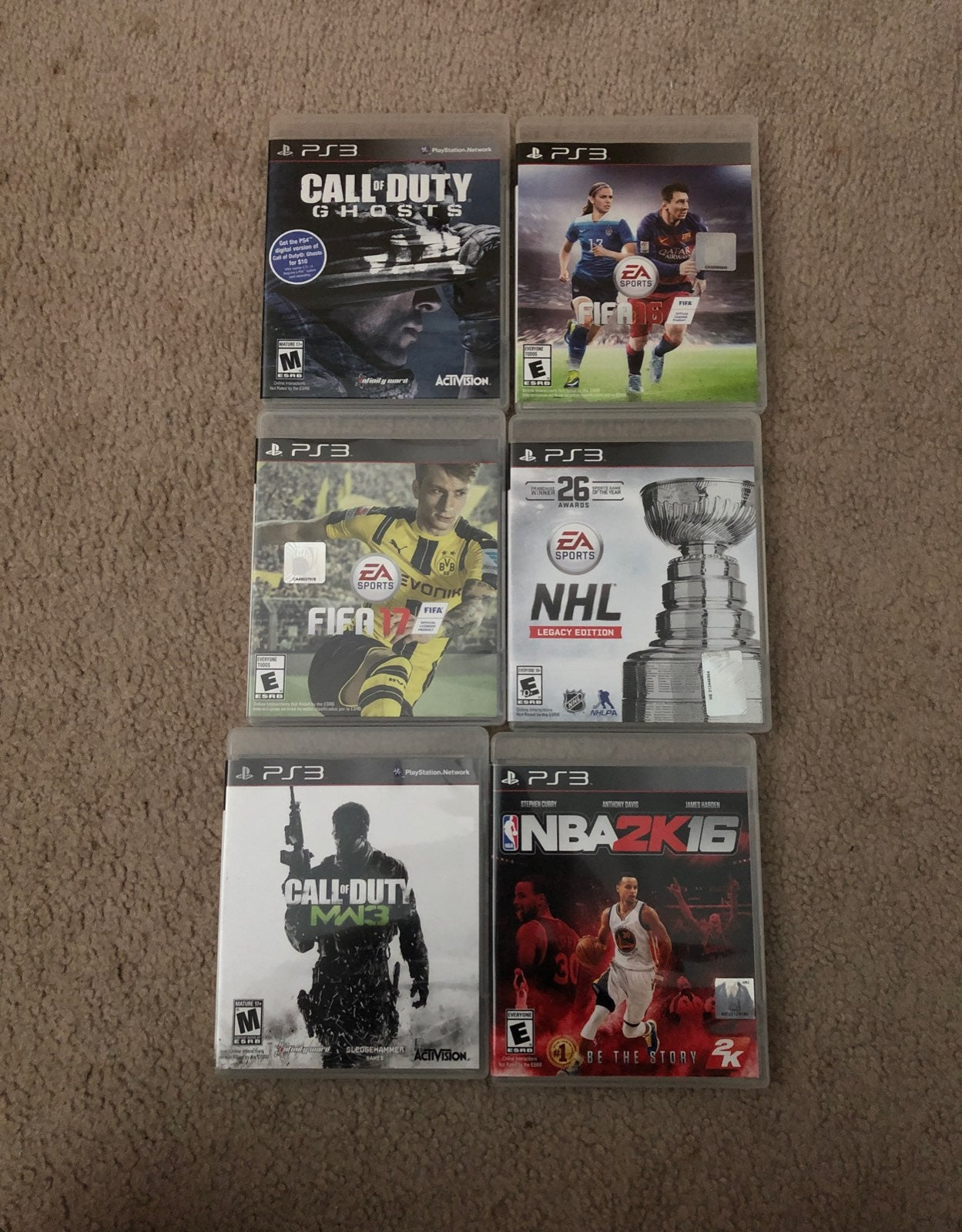 ps3 game Lot 6 games