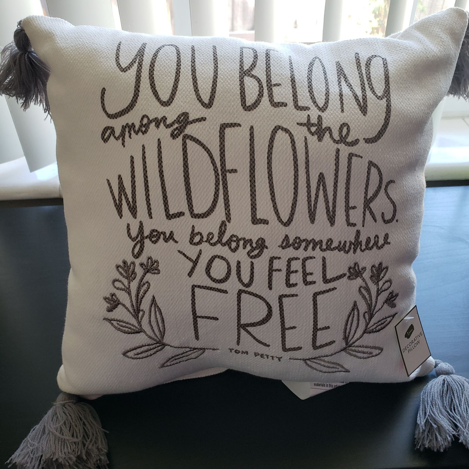 NEW Target Wildflowers Tom Petty Pillow
