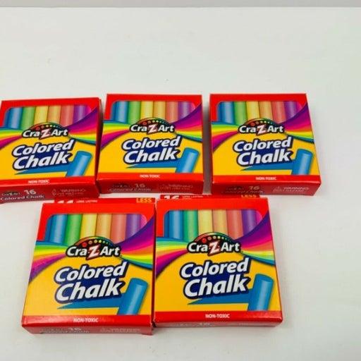 5 x Cra-Z-Art Colored Chalk, 16 Count Ea
