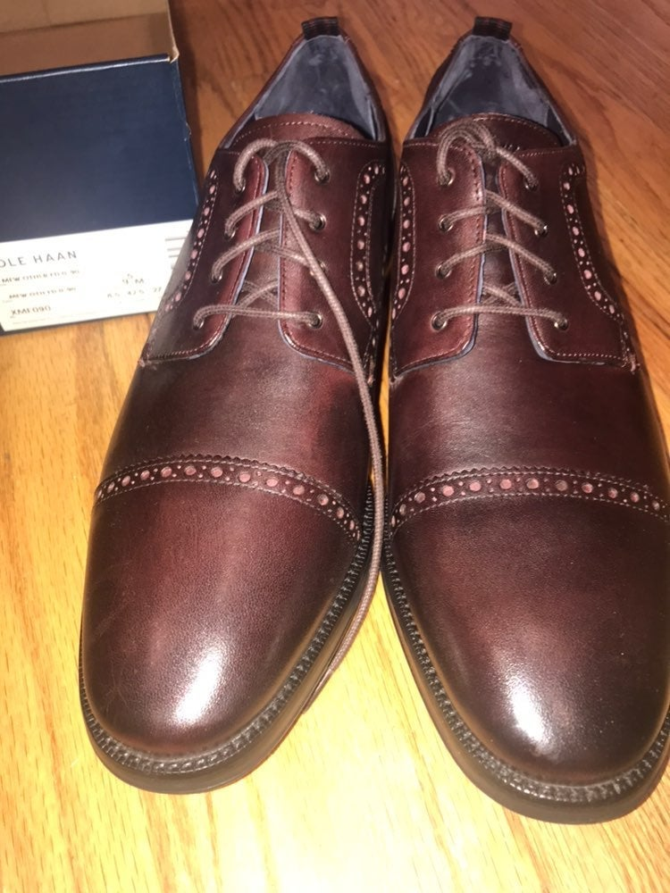 NWT Cole Haan Mens Brown Oxfords 9.5