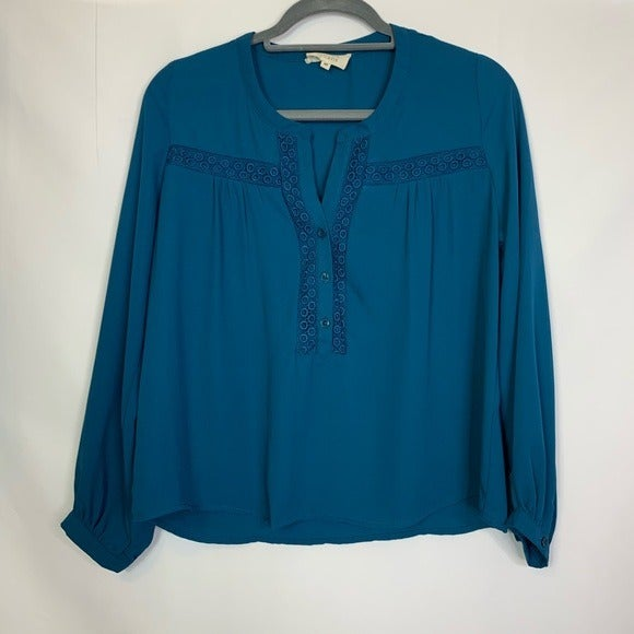 Crescent Stitch Fix Turquoise Blouse