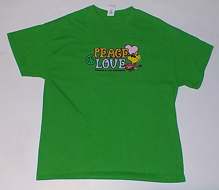 Green Peanuts Peace & Love T-Shirt