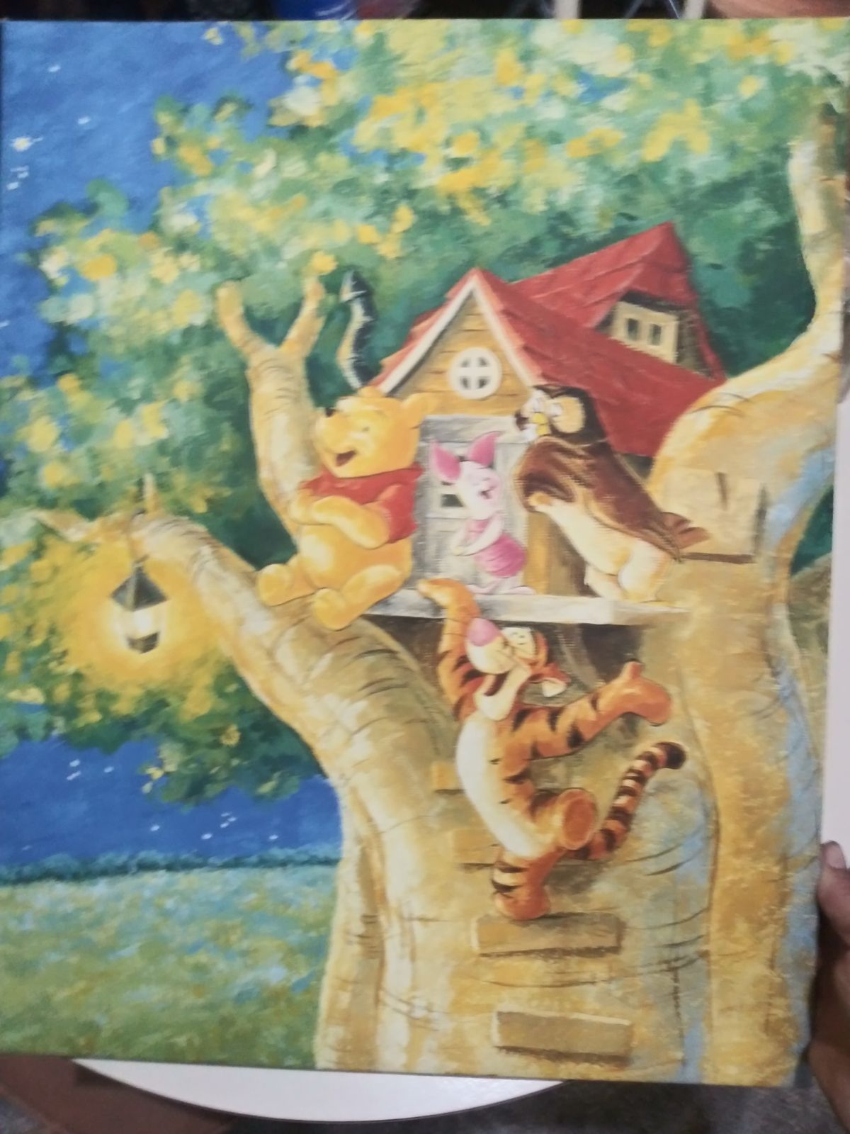 Pooh painting