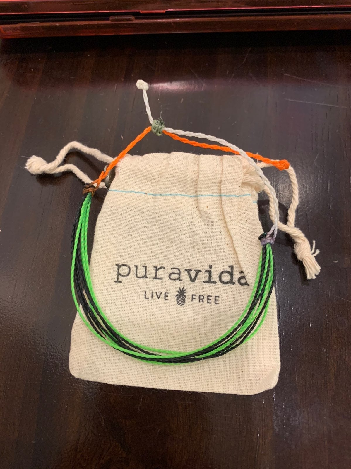 Pura Vida Black and Green Bracelet